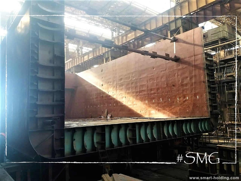 Kherson Shipyard of SMG Makes Heavy Upgrade of Modulus-2 Bulk Carrier