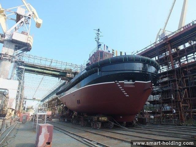 Kherson Shipyard Floats out Second Tugboat for Kirgan Holding